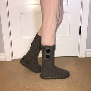 Women's UGG Grey Knitted Boot